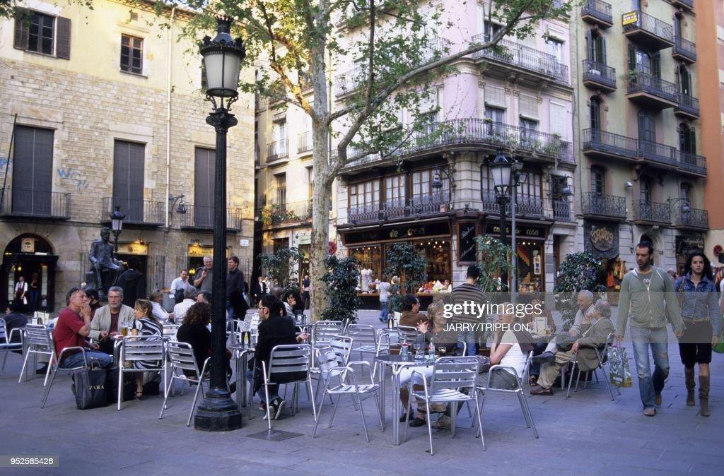 Terrasse De Cafe Place Sant Josep Oriol Quartier Gothique