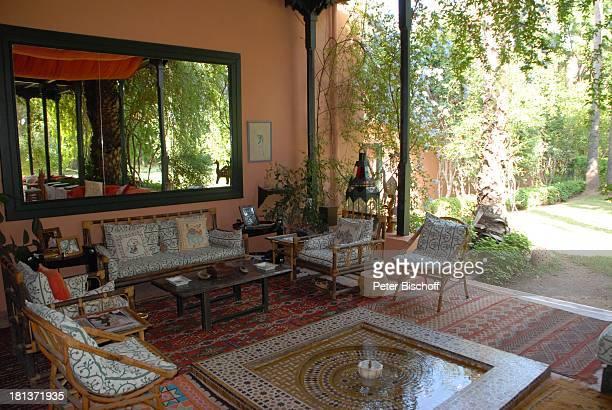 Terrasse der Villa von Henriette von Bohlen und Halbach Homestory Villa Bled Targui Marrakesch Marokko Nordafrika Afrika Residenz Palast...