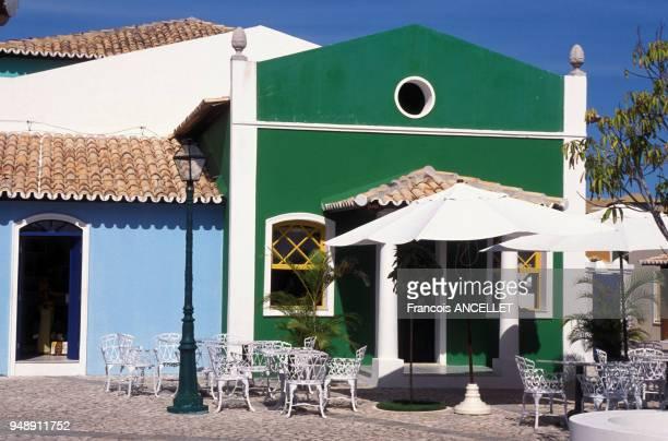 Terrasse d'un café à Costa do Sauipe en 2001 Brésil