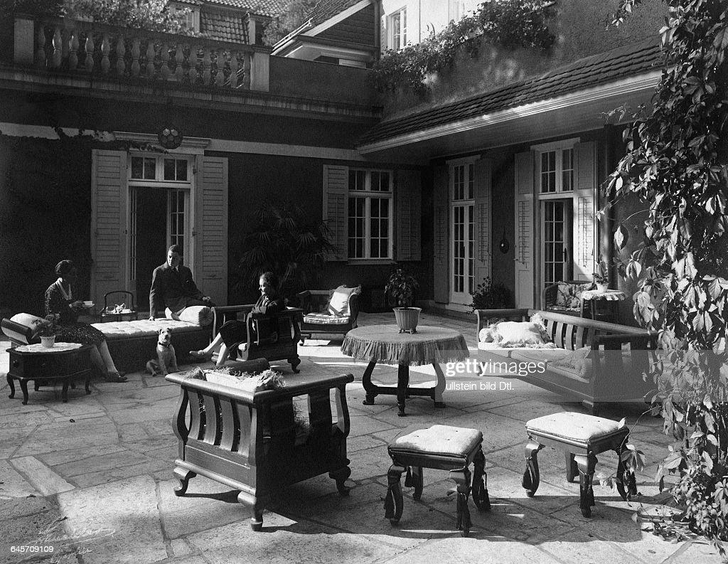 Terrasse Of A Pompous Villa In Berlin Grunewald Vintage Property Of