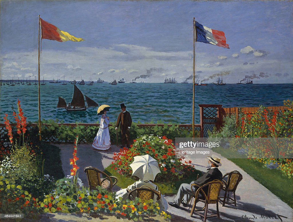 Terrasse à Sainte-Adresse, 1866-1867. Found in the collection of the Metropolitan Museum of Art, New York.