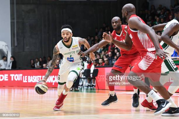 Terray Petteway of Nanterre during the Pro A match between Nanterre 92 and Monaco on January 21 2018 in Nanterre France