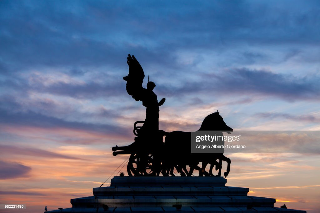 Terrazza Del Vittorianoquadriglia Roma Italy Stock Photo | Getty Images