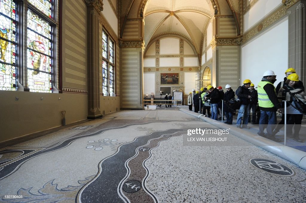 A Terrazzo Floor Which Is Reconstructed From The Original