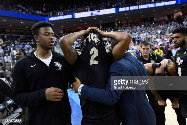 Terrell Allen of the UCF Knights reacts after the loss to the Duke Blue Devils in the second round of the 2019 NCAA Photos via Getty Images Men's...