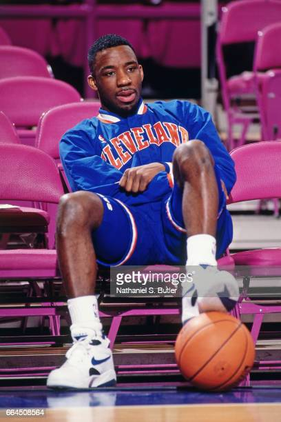 Terrell Brandon of the Cleveland Cavaliers looks on against the New York Knicks during a game played circa 1993 at the Madison Square Garden in New...