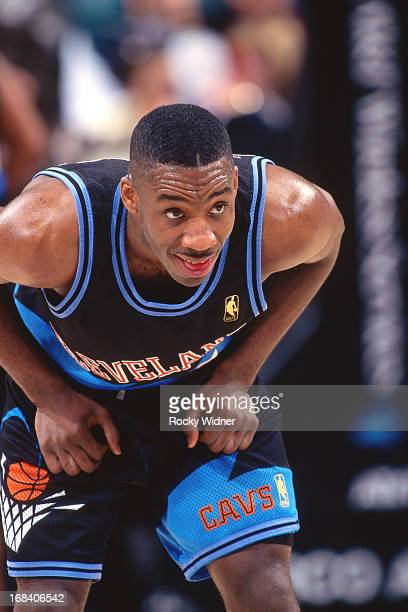 Terrell Brandon of the Cleveland Cavaliers rests against the Sacramento Kings during a game played on March 11 1997 at Arco Arena in Sacramento...