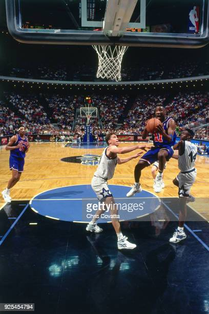 Terrell Brandon of the Cleveland Cavaliers shoots during a game played on March 18 1994 at Orlando Arena in Orlando Florida NOTE TO USER User...