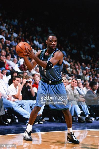 Terrell Brandon of the Minnesota Timberwolves during the game against the Houston Rockets on January 25 2000 at Compaq Center in Houston Texas
