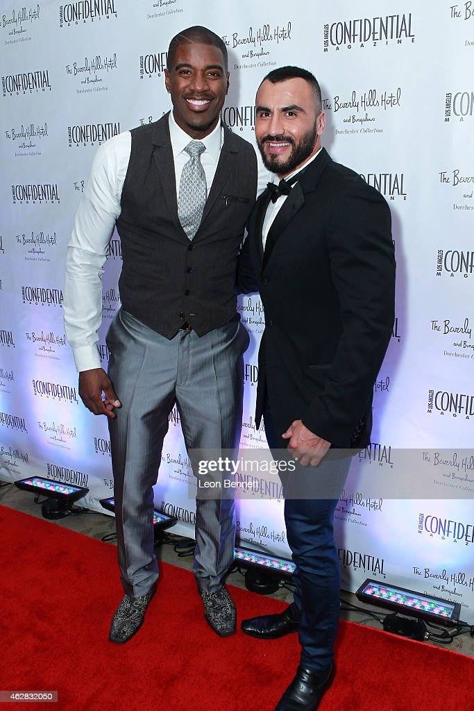 Terrell Carter and Efren Chacon attended the Los Angeles Confidential Grammy Weekend Kickoff Party at Beverly Hills Hotel on February 5, 2015 in Beverly Hills, California.