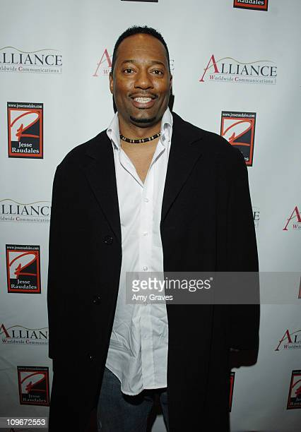 Terrell Clayton during Jesse Raudales and Terrence Howard Peace for the Children Art Show at PounderKone Artspace in Glendale California United States