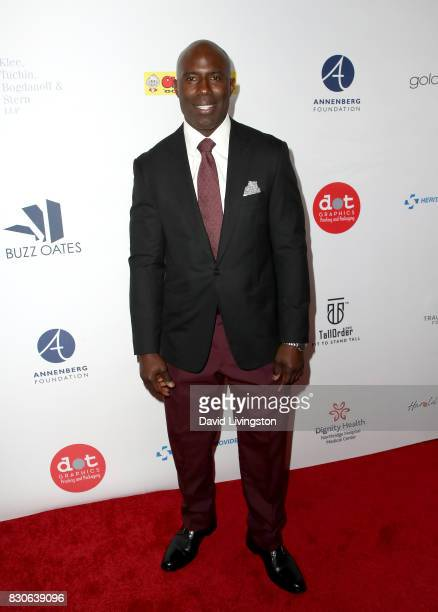 Terrell Davis at the 17th Annual Harold Carole Pump Foundation Gala at The Beverly Hilton Hotel on August 11 2017 in Beverly Hills California