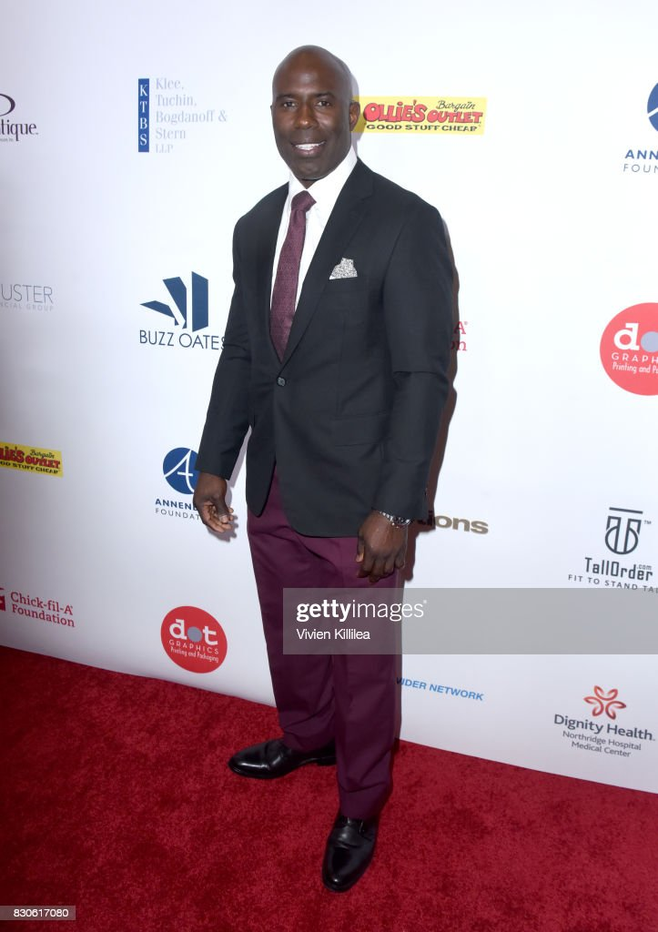Terrell Davis attends the 17th Annual Harold & Carole Pump Foundation Gala at The Beverly Hilton Hotel on August 11, 2017 in Beverly Hills, California.