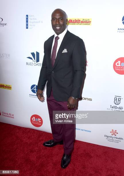 Terrell Davis attends the 17th Annual Harold Carole Pump Foundation Gala at The Beverly Hilton Hotel on August 11 2017 in Beverly Hills California