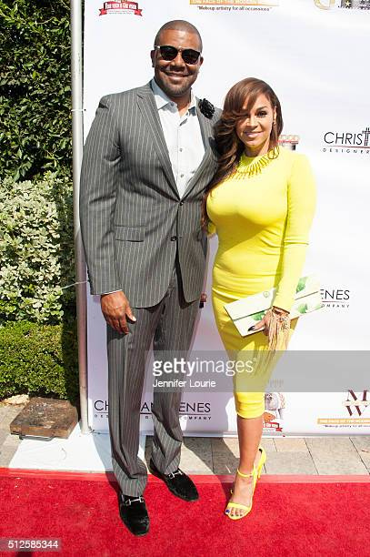 Terrell Fletcher and Sheree Zampino arrive at the Gospel Goes To Hollywood event at the Vibiana on February 26, 2016 in Los Angeles, California.
