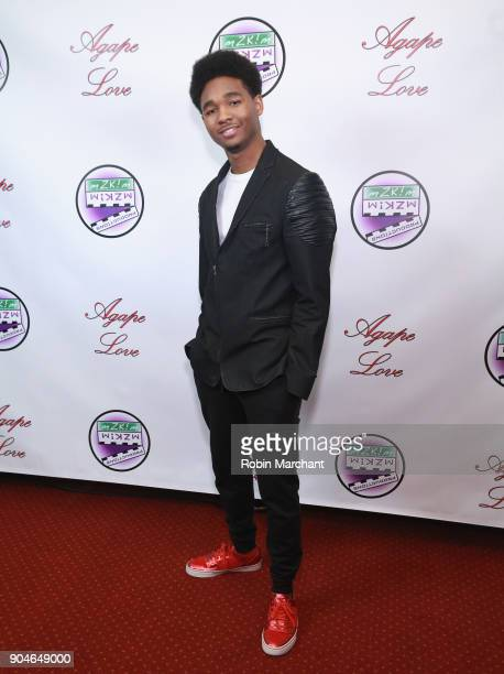 Terrell Lewis attends Agape Love Red Carpet on January 13 2018 in Milwaukee Wisconsin