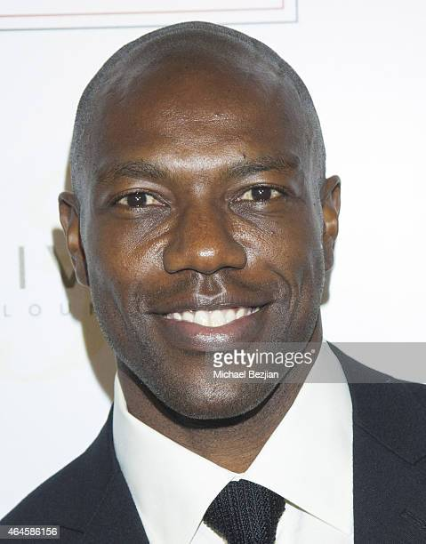 Terrell Owens arrives at the 1st Annual Startuch Charity Gala at Riviera 31 on February 26 2015 in Beverly Hills California