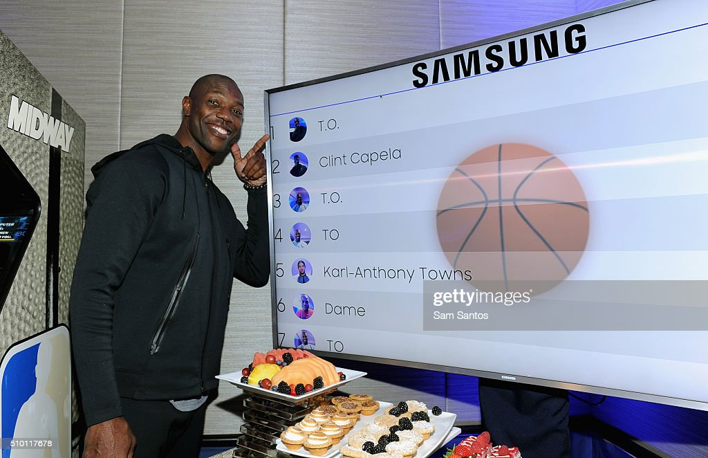 Terrell Owens at the Samsung Galaxy Lounge during NBA All-Star 2016 on February 13, 2016 in Toronto, Canada.