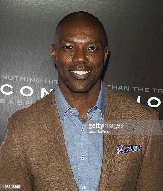 Terrell Owens attends a screening of 'Concussion' at Regency Village Theatre on November 23 2015 in Westwood California