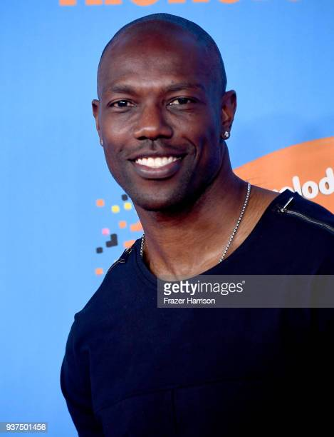 Terrell Owens attends Nickelodeon's 2018 Kids' Choice Awards at The Forum on March 24 2018 in Inglewood California