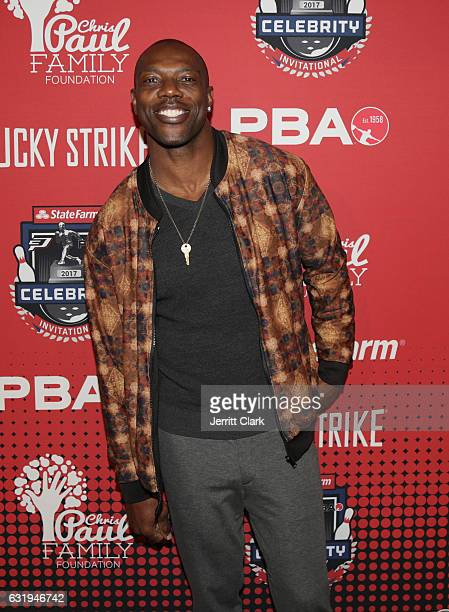 Terrell Owens attends the State Farm CP3 Family Foundation PBA Celebrity Invitational at Lucky Strike LA Live on January 17 2017 in Los Angeles...