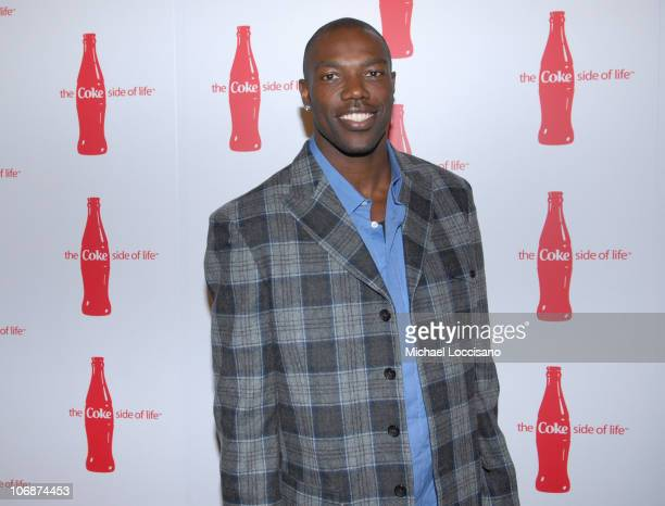 Terrell Owens during CocaCola's Coke Side Of Life Launch Party with a Performance by NeYo March 30 2006 at Capitale in New York City New York United...