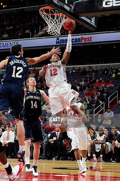 Terrell Stoglin of the Maryland Terrapins drives to the hoop against the Notre Dame Fighting Irish during the BBT College Basketball Classic at the...
