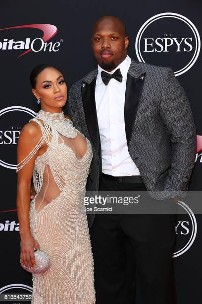 Terrell Suggs arrives at the 2017 ESPYS at Microsoft Theater on July 12 2017 in Los Angeles California