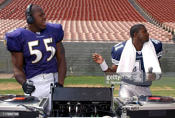 Terrell Suggs Baltimore and Terence Newman Dallas Cowboys