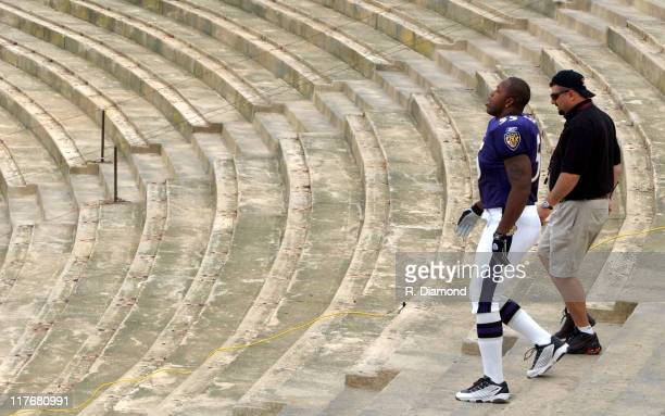 Terrell Suggs Ravens during Reebok NFL Players Rookie Premiere Presented by 989 Sports at LA Coliseum in Los Angeles California United States