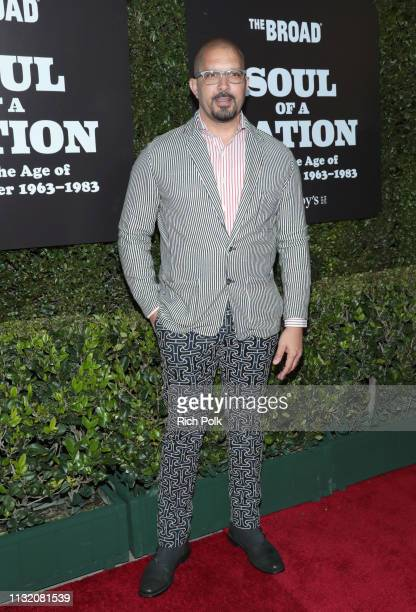 Terrell Tilford attends The Broad Museum celebration for the opening of Soul Of A Nation Art in the Age of Black Power 19631983 Art Exhibition at The...