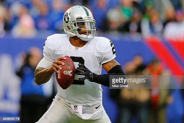 Terrelle Pryor of the Oakland Raiders in action against the New York Giants at MetLife Stadium on November 10 2013 in East Rutherford New Jersey...