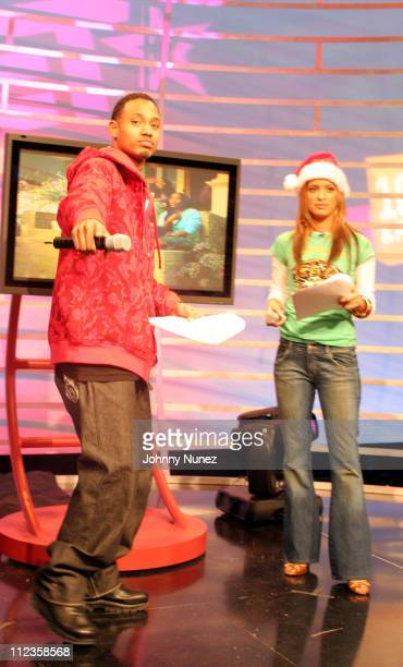 Terrence and Rocsi during 106th and Park with guests Young Jeezy and Jim Jones at BET Studios in New York City New York United States
