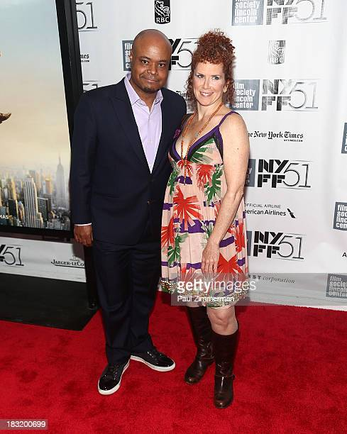Terrence Bernie Hines and Amy Stiller attend the Centerpiece Gala Presentation Of The Secret Life Of Walter Mitty premiere during the 51st New York...