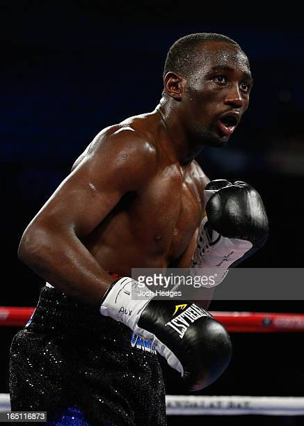 Terrence Crawford stands in the ring during his junior welterweight bout against Bredis Prescott at the Mandalay Bay Events Center on March 30 2013...