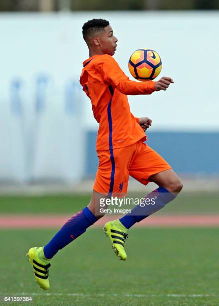 Terrence Douglas of Netherlands U16 during the UEFA Development Tournament Match between Germany U16 and Netherlands U16 on February 9 2017 in Vila...