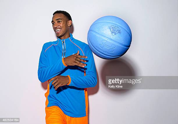 Terrence Ferguson poses for a portrait during the National Basketball Players Association Top 100 Camp on June 18 2014 at John Paul Jones Arena in...