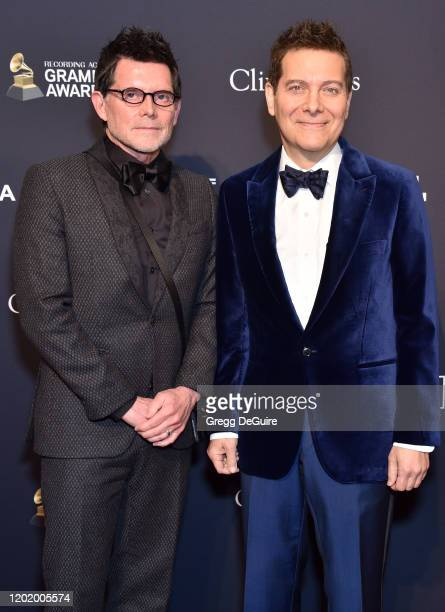 Terrence Flannery and Michael Feinstein attend the PreGRAMMY Gala and GRAMMY Salute to Industry Icons Honoring Sean Diddy Combs on January 25 2020 in...