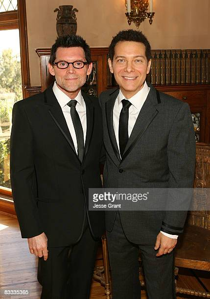 Terrence Flannery and Michael Feinstein attend their wedding held at a private residence on October 17 2008 in Los Angeles California