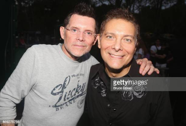 Terrence Flannery and Michael Feinstein pose at The 3rd Annual Elsie Fest at Central Park's Summerstage on October 8 2017 in New York City