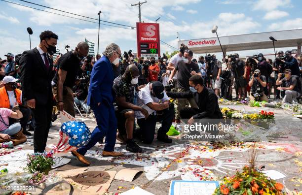 Terrence Floyd attends a vigil where his brother George Floyd was killed by police one week ago on June 1, 2020 in Minneapolis, Minnesota. Floyd...