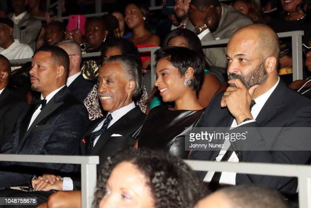 Terrence Howard Al Sharpton Aisha McShaw and Jeffrey Wright attend the 9th Annual National Action Network Triumph Awards at Rose Theater Jazz at...