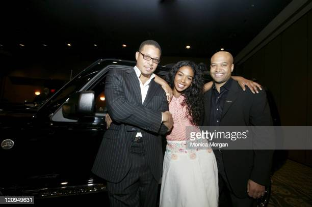 Terrence Howard Ananda Lewis and Ralph Giles during Daimler Chrysler JEEP Reveal for NAACP at The Westin Bonaventure at Daimler Chrysler JEEP Reveal...