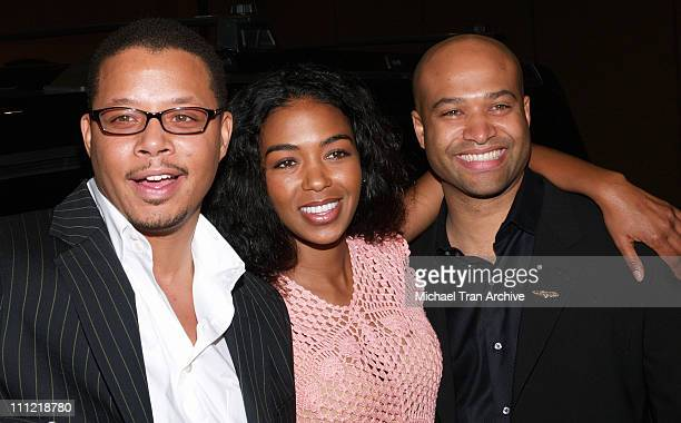 Terrence Howard Ananda Lewis and Ralph V Gilles during Terrence Howard My Custom Style Press Conference at Westin Bonaventure Hotel in Los Angeles...