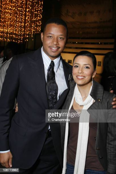 Terrence Howard and Eva Longoria during Lionsgate Screening of 'Pride' at DGA in Hollywood California United States