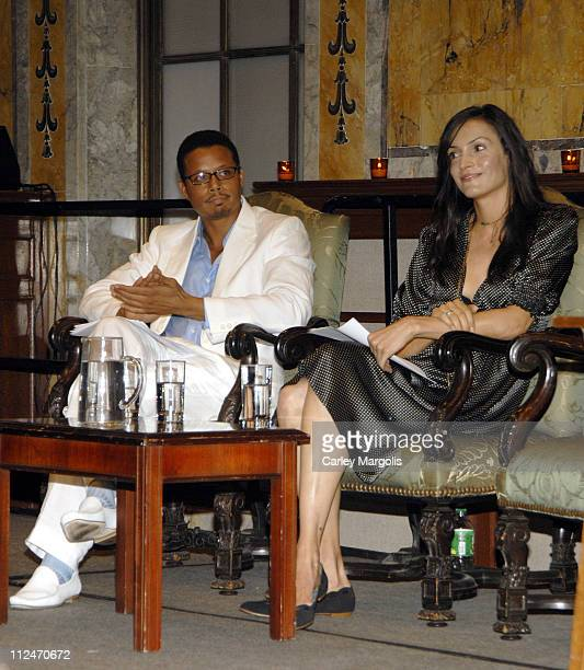 Terrence Howard and Famke Janssen during Famke Janssen Terrence Howard and Ethan Hawke Appear at The New York Public Library's 2006 Young Lions...