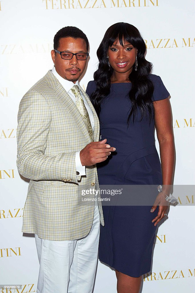 Terrence Howard and Jennifer Hudson attend the 'Winnie' Press Conference at the Martini Terrazza of Cannes on May 15, 2010 in Cannes, France.