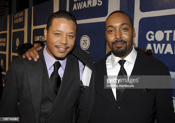 Terrence Howard and Jesse L Martin during IFP's 15th Annual Gotham Awards Red Carpet at Pier 60 at Chelsea Piers in New York City New York United...