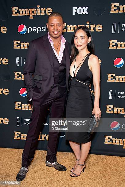 Terrence Howard and Mira Pak attend the 'Empire' Series Season 2 New York Premiere at Carnegie Hall on September 12 2015 in New York City