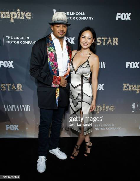Terrence Howard and Mira Pak Howard attend 'Empire' and 'Star' celebrate FOX's new Wednesday night at One World Observatory on September 23 2017 in...